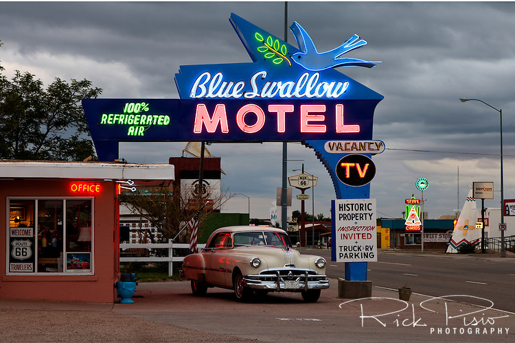 Blue Swallow Motel along Route 66 in Tucamcari, New Mexico