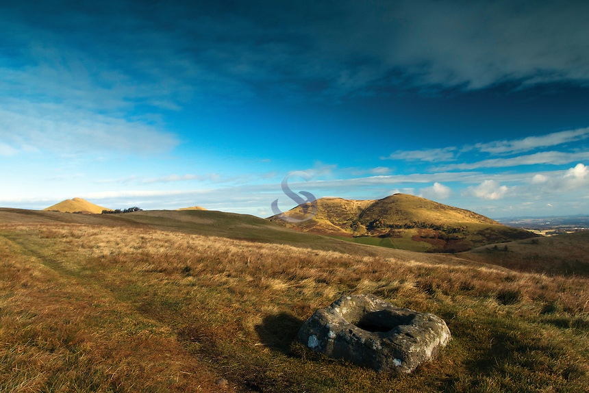 The Font Stone and Scald Law from the Monks Rig, The Pentland Hills, The Pentland Hills Regional Park, Lothian