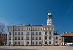 Ratusz na Placu Wolnica na krakowskim Kazimierzu.<br /> City Hall on Plac Wolnica in Krakow's Kazimierz district.