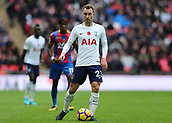 5th November 2017, Wembley Stadium, London England; EPL Premier League football, Tottenham Hotspur versus Crystal Palace; Christian Eriksen of Tottenham Hotspur in action