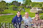 UPKEEP: Members of the Griffin family of Ballyseedy who are calling on Kerry County Council to maintain the historic graveyard, l-r: Jason Griffin, Gerard Griffin, Noel Griffin.