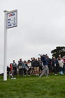 Nick Taylor (CAN) watches his tee shot on 9 during round 1 of the 2019 US Open, Pebble Beach Golf Links, Monterrey, California, USA. 6/13/2019.<br /> Picture: Golffile | Ken Murray<br /> <br /> All photo usage must carry mandatory copyright credit (© Golffile | Ken Murray)