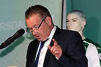 GRONINGEN - Voetbal, Persdag FC Groningen,  seizoen 2017-2018, 08-08-2017,<br /> Hans Nijland geeft uitleg