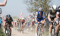 Tom Boonen (BEL/Quick-Step Floors) on sector 27: Qui&eacute;vy to Saint-Python<br /> <br /> 115th Paris-Roubaix 2017 (1.UWT)<br /> One day race: Compi&egrave;gne &gt; Roubaix (257km)