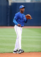 Durham Bulls B.J. Upton during warmups before the Triple-A All-Star Game at Fifth Third Field on July 12, 2006 in Toledo, Ohio.  (Mike Janes/Four Seam Images)