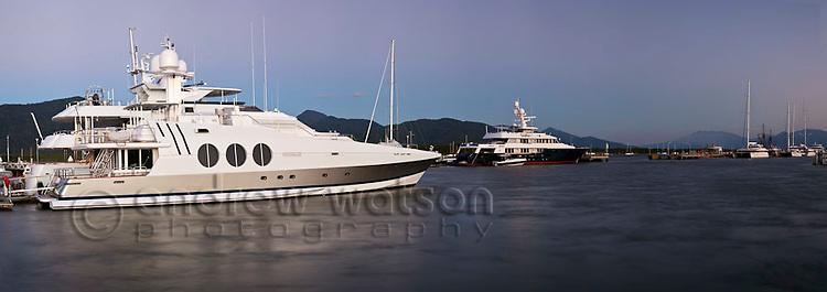 Superyachts at Marlin Marina.  Cairns, Queensland, Australia