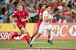 Oliver Lindsay-Hague of England runs with the ball during the match Canada vs England, Day 2 of the HSBC Singapore Rugby Sevens as part of the World Rugby HSBC World Rugby Sevens Series 2016-17 at the National Stadium on 16 April 2017 in Singapore. Photo by Victor Fraile / Power Sport Images