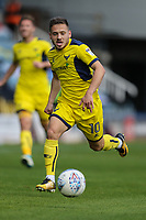 Jack Payne of Oxford United during the Sky Bet League 1 match between Peterborough and Oxford United at the ABAX Stadium, London Road, Peterborough, England on 30 September 2017. Photo by David Horn.