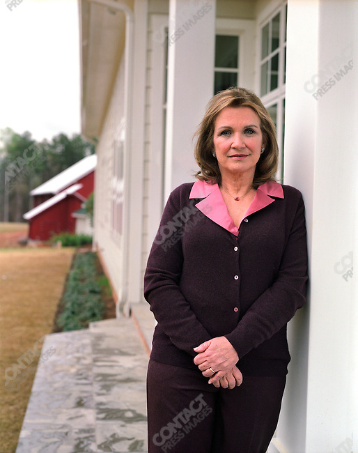 Elizabeth Edwards, attorney and wife of John Edwards, 2008 Democratic Party presidential candidate, at home. North Carolina, March 30, 2007.