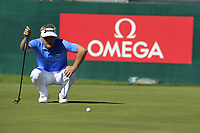 Soren Kjeldsen (DEN) on the 18th green during Saturday's Round 3 of the 2018 Omega European Masters, held at the Golf Club Crans-Sur-Sierre, Crans Montana, Switzerland. 8th September 2018.<br /> Picture: Eoin Clarke | Golffile<br /> <br /> <br /> All photos usage must carry mandatory copyright credit (&copy; Golffile | Eoin Clarke)