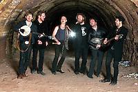 Graveyard Train promotional photo shoot in an abandoned brickworks, Melbourne, 2010