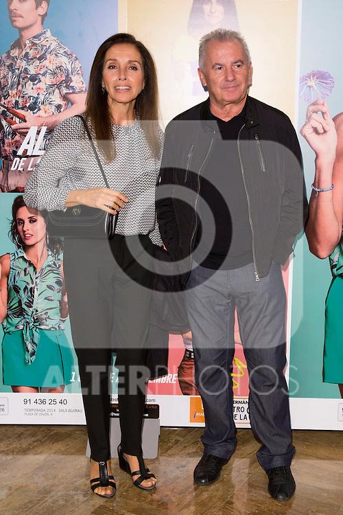 "Ana Belen and Victor Manuel attends the Premiere of the Theater Play ""Al Final de la carretera"" at Fenan Gomez Theatre in Madrid, Spain. October 7, 2014. (ALTERPHOTOS/Carlos Dafonte)"