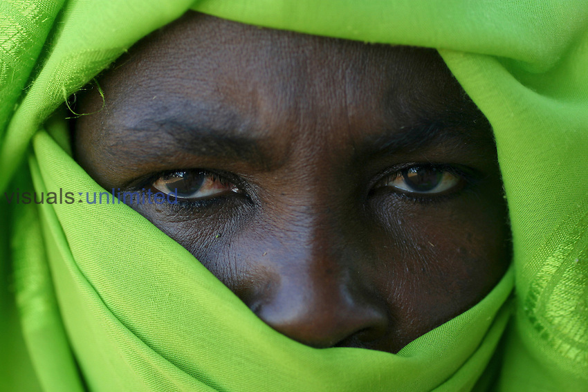 A Sudanese woman in Darfur, a region where a war  has left millions of people displaced and hundreds of thousands dead.