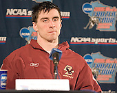 Post-practice press conference - Peter Harrold  The Boston College Eagles practiced on Wednesday, April 5, 2006, at the Bradley Center in Milwaukee, Wisconsin, in preparation for their 2006 Frozen Four Semi-Final game against the University of North Dakota.