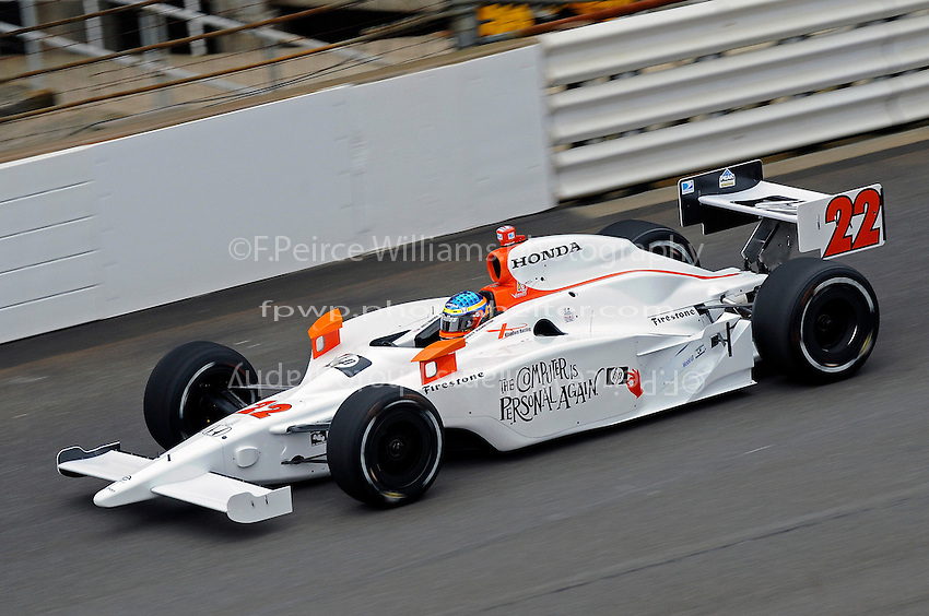 23 May 2008, Indianapolis,Indiana USA.Davey Hamilton's Hewlett-Packard/KR Vision Racing Honda/Dallara #22.©2008 F.Peirce Williams USA.