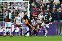 Burnley's Nick Pope clears<br /> <br /> Photographer Rob Newell/CameraSport<br /> <br /> The Premier League - West Ham United v Burnley - Saturday 10th March 2018 - London Stadium - London<br /> <br /> World Copyright &copy; 2018 CameraSport. All rights reserved. 43 Linden Ave. Countesthorpe. Leicester. England. LE8 5PG - Tel: +44 (0) 116 277 4147 - admin@camerasport.com - www.camerasport.com