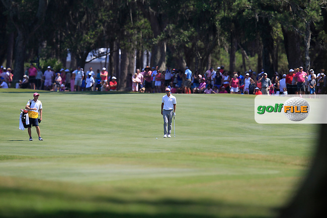 Adam Scott (AUS) on the 9th during the final round of The Players, TPC Sawgrass, Ponte Vedra Beach, Florida, United States. 10/05/2015<br /> Picture Fran Caffrey, www.golffile.ie