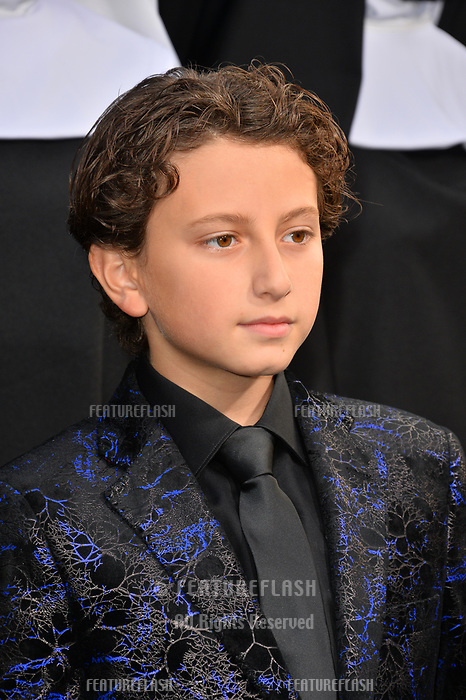 """LOS ANGELES, CA. September 04, 2018: August Maturo at the world premiere of """"The Nun"""" at the TCL Chinese Theatre, Hollywood."""