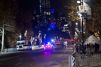 NEW YORK, NY – NOVEMBER 21: Strong security measures are organized on the Parck West Central for the annual Macy's Thanksgiving Day parade the night before the parade on November 21, 2018 in New York City. (Photo by Pablo Monsalve /VIEWPress)
