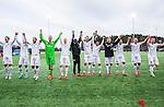 V&auml;llingby 2014-03-30 Fotboll Allsvenskan IF Brommapojkarna - Kalmar FF :  <br />  Kalmar spelare jublar med tillresta Kalmar supportrar efter matchen<br /> (Foto: Kenta J&ouml;nsson) Nyckelord:  BP Brommapojkarna Grimsta Kalmar KFF jubel gl&auml;dje lycka glad happy