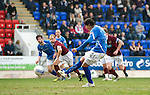 St Johnstone v Hearts....24.03.12   SPL.Fran Sandaza scores from the penalty spot.Picture by Graeme Hart..Copyright Perthshire Picture Agency.Tel: 01738 623350  Mobile: 07990 594431