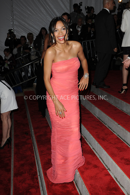 WWW.ACEPIXS.COM . . . . . ....May 4 2009, New York City....Rosario Dawson arriving at 'The Model as Muse: Embodying Fashion' Costume Institute Gala at The Metropolitan Museum of Art on May 4, 2009 in New York City.....Please byline: KRISTIN CALLAHAN - ACEPIXS.COM.. . . . . . ..Ace Pictures, Inc:  ..tel: (212) 243 8787 or (646) 769 0430..e-mail: info@acepixs.com..web: http://www.acepixs.com