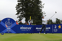 Brittany Altomare of Team USA on the 2nd tee during Day 2 Fourball at the Solheim Cup 2019, Gleneagles Golf CLub, Auchterarder, Perthshire, Scotland. 14/09/2019.<br /> Picture Thos Caffrey / Golffile.ie<br /> <br /> All photo usage must carry mandatory copyright credit (© Golffile | Thos Caffrey)