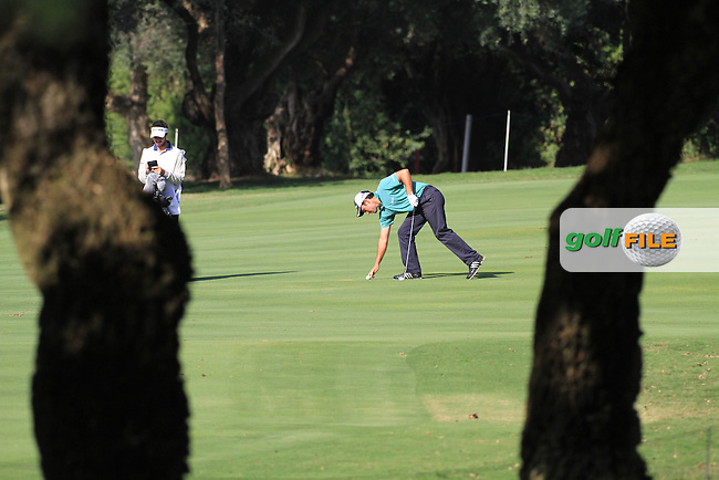 Edoardo Molinari (ITA) during the 1st day at the  Andalucía Masters at Club de Golf Valderrama, Sotogrande, Spain. .Picture Fran Caffrey www.golffile.ie