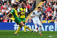 Swansea v Norwich, Liberty Stadium, Saturday 29th march 2014...<br /> <br /> <br /> <br /> Swansea's Pablo Hernandez on the ball.