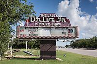 Drive-in movie theatre sign in Gatesville, TX