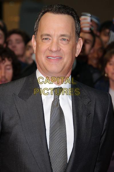 Tom Hanks.'Larry Crowne' world film premiere, Vue cinema, Westfield, Shepherds Bush, London, England 6th June 2011.half length suit grey gray tie white shirt blue headshot portrait .CAP/CJ.©Chris Joseph/Capital Pictures.