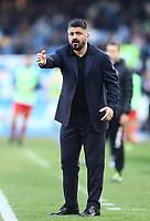 9th February 2020; Stadio San Paolo, Naples, Campania, Italy; Serie A Football, Napoli versus Lecce; Gennaro Gattuso coach of Napoli as his team lag behind