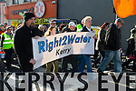 A large group gathers in Listowel on Saturday to March against water charges being introduced.