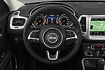 Car pictures of steering wheel view of a 2017 JEEP Compass Latitude 5 Door SUV Steering Wheel