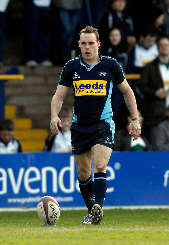 Photo: Jed Wee/Sportsbeat Images..Leeds Tykes v Waterloo. National League 1. 11/03/2007...Leeds' Leigh Hinton.