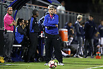 21 October 2016: Duke head coach John Kerr. The Duke University Blue Devils hosted the University of Notre Dame Fighting Irish at Koskinen Stadium in Durham, North Carolina in a 2016 NCAA Division I Men's Soccer match. Duke won the game 2-1 in two overtimes.