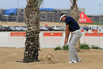 Charl Schwartzel plays out of the sand on the 1st hole during the Final Day Sunday of the Abu Dhabi HSBC Golf Championship, 23rd January 2011..(Picture Eoin Clarke/www.golffile.ie)