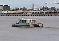 General view of a BAT3 on the River Garonne, Bordeaux, Nouvelle-Aquitaine, France on 16.10.19.