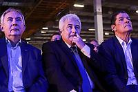 SAO PAULO, SP - 15.02.2019 - CAMPUS PARTY - O Ministro da Ci&ecirc;ncia e Tecnologia, Marcos Pontes, junto com o Diretor Presidente do Sebrae, Jo&atilde;o Henrique de almeida e Vinicius Lages, Diretor Tecnico do Sebrae durante a Campus Party nesta sexta-feira (15) no Expo Center Norte na zona norte de Sao Paulo.<br /> <br /> (Foto: Fabricio Bomjardim / Brazil Photo Press / Folhapress)