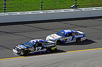 Ricky Stenhouse, Jr. (#17) and Carl Edwards (#99)