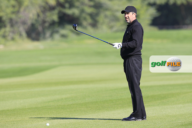 Jose Maria OLAZABAL (ESP) prepares to play his 2nd shot on the 9th hole during Thursday's Round 2 of the 2015 Commercial Bank Qatar Masters held at Doha Golf Club, Doha, Qatar.: Picture Eoin Clarke, www.golffile.ie: 1/22/2015