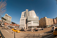 The new digs for the Whitney Museum of American Art on West Street and at the terminus of the High Line Park in the trendy Meatpacking District in New York on Sunday, March 29, 2015. The museum, designed by the architect Renzo Piano,  is scheduled to open on May 1. (© Richard B. Levine)