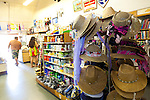 Maui, Hawaii.  Straw sun hats still sold at the Hasegawa General Store in Hana, Maui.
