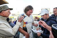 Picture by Alex Whitehead/SWpix.com - 12/09/2014 - Cricket - LV County Championship Div One - Nottinghamshire CCC v Yorkshire CCC, Day 4 - Trent Bridge, Nottingham, England - Yorkshire Ryan Sidebottom is congratulated by supporters.