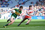 17-1-2017: Kerry's Donal O'Sullivan bursts through in the All-Ireland Football final at Croke Park on Sunday.<br /> Photo: Don MacMonagle