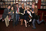 Cast members attend the closing Night party for the Off-Broadway hit  'Shear Madness' at Sardi's on April 23, 2017 in New York City.