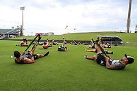 Picture by David Neilson/SWpix.com/PhotosportNZ - 09/02/2018 - Rugby League - Betfred Super League - Wigan Warriors v Hull FC - Captain's Run - WIN Stadium, Wollongong, Australia - Warm ups.