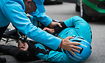 Crash for Astana Pro Team rider during a wet Stage 5 of the 2019 Presidential Cycling Tour of Turkey running 164.1km from Bursa to Kartepe, Turkey. 20th April 2019.<br /> Picture: Yucelcakiroglu | Cyclefile<br /> <br /> All photos usage must carry mandatory copyright credit (© Cyclefile | Yucelcakiroglu)