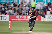 Tom Lammonby of Somerset CCC scoops for four runs during Essex Eagles vs Somerset, Vitality Blast T20 Cricket at The Cloudfm County Ground on 7th August 2019