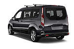 Car pictures of rear three quarter view of 2016 Ford Transit Connect Titanium 5 Door Mini Mpv Angular Rear